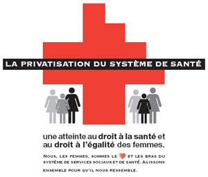 La privatisation du système de santé, une atteinte au droit à la santé et au droit à l'égalité des femmes