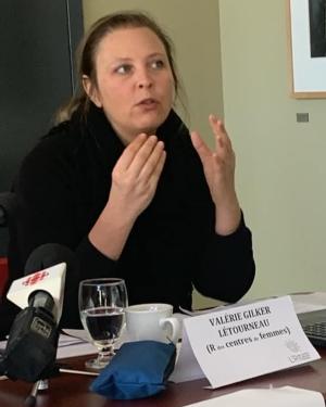 Valérie Gilker-Létourneau à la conférence de presse du 1er mars 2020